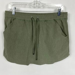 Lucy Exercise Skirt Drawstring Olive Green 3632